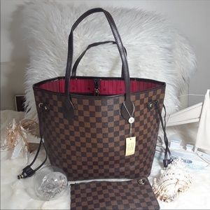 Louis Vuitton damier neverfull tote bag
